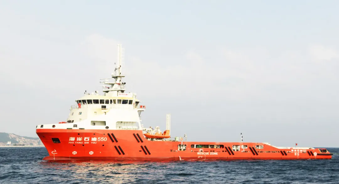 """LNG动力守护供应船""""海洋石油550""""完成试航"""