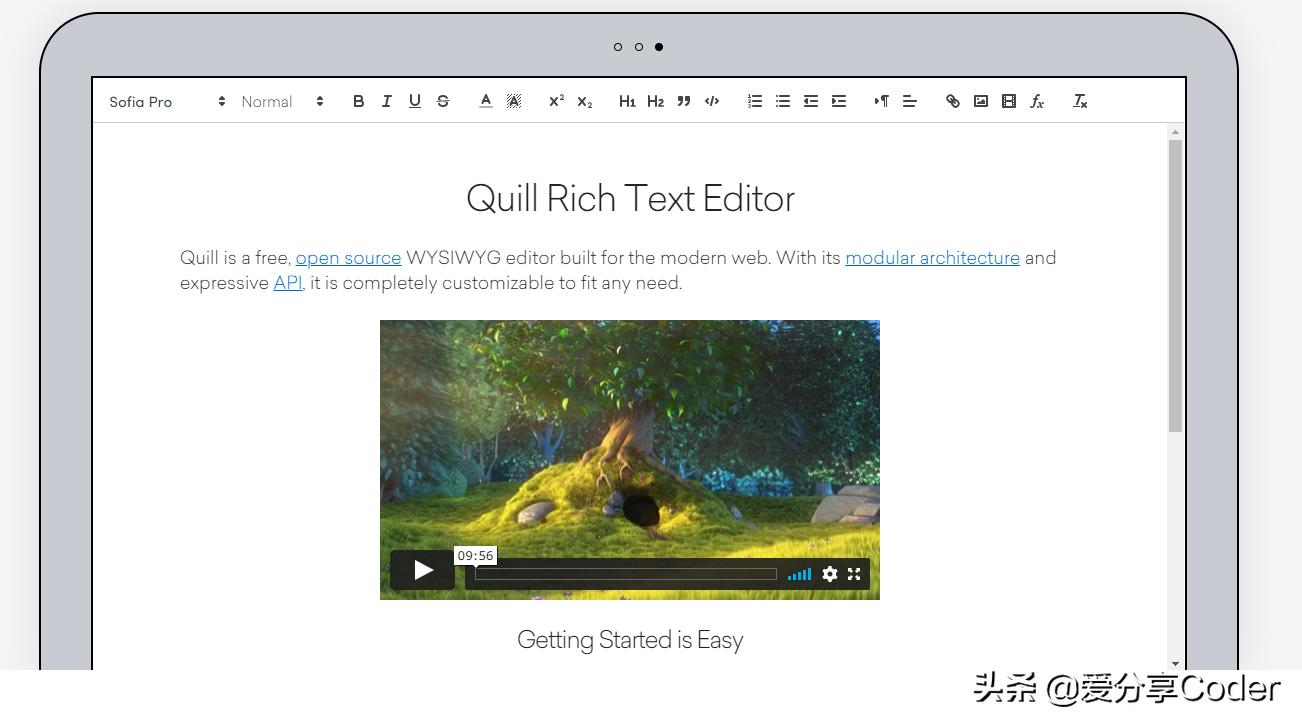 这一款开源免费的富文本编辑器,是值得推荐的——Quill