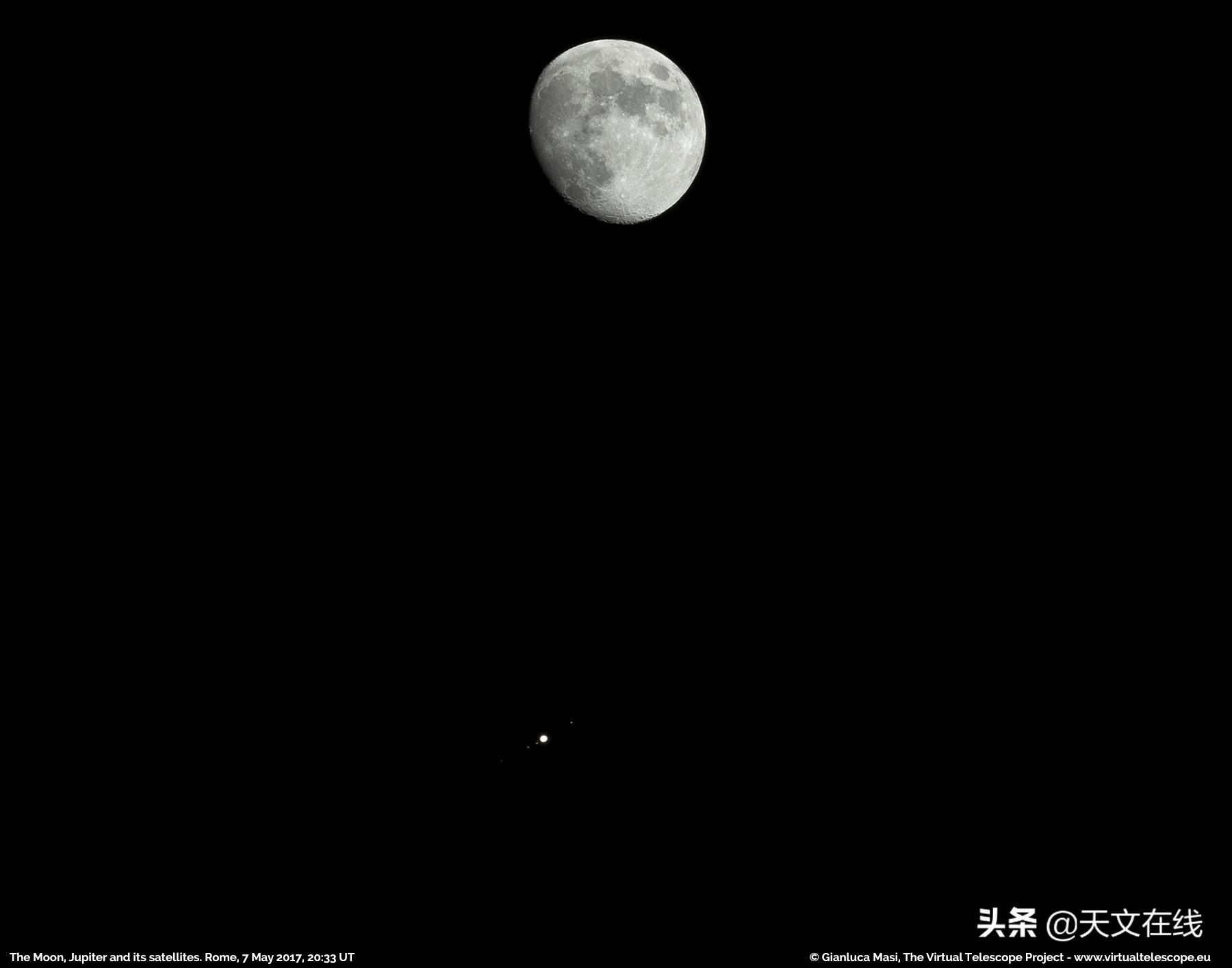 """定好您的闹钟,未来几天清晨将连续可见天文奇观——""""月穿三星"""""""