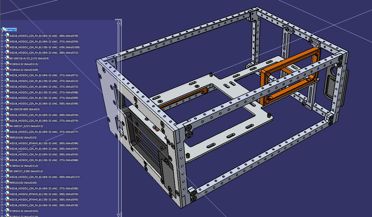 Casemaker机箱框架结构3D图纸 STEP格式