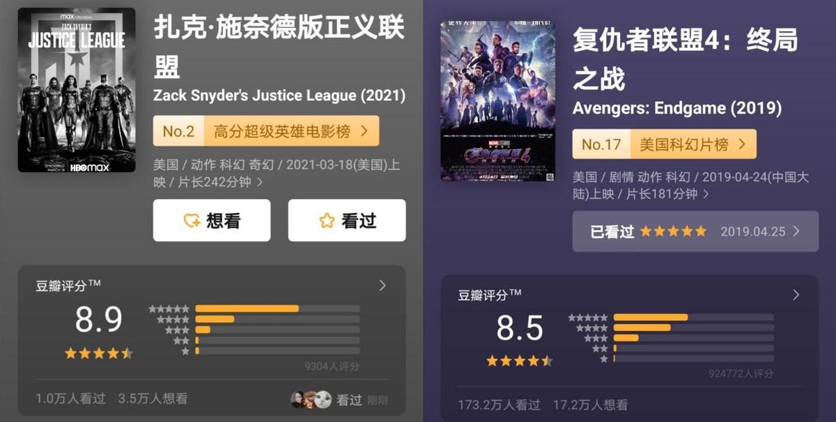 扎导版正义联盟剧情全解析,豆瓣评分暴涨到8.9,超过复联4