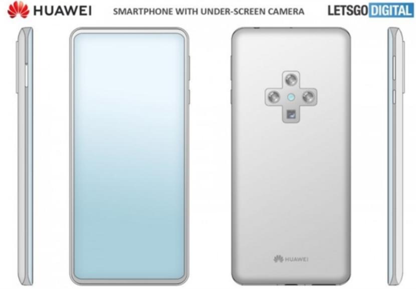 华为新手机专利权曝出:真全面屏,后置摄像头摄像镜头会亮