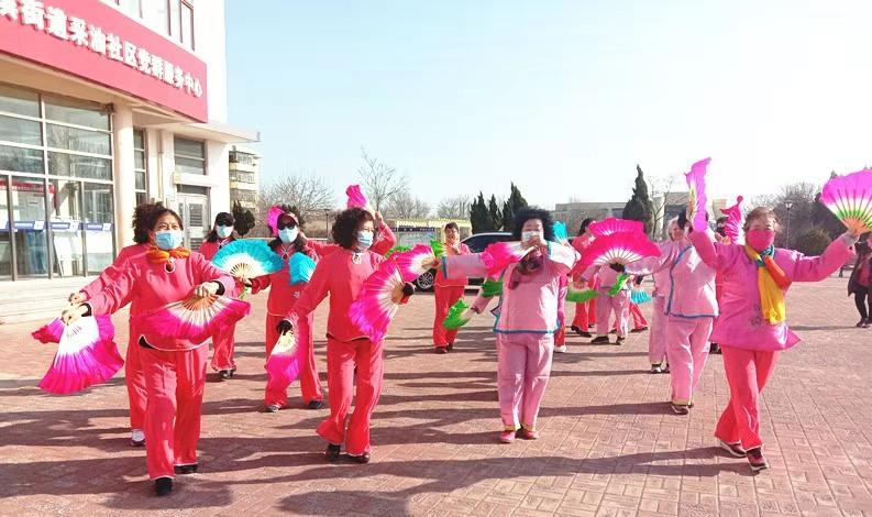 """天津滨海新区海滨街采油社区开展""""闹元宵""""扭秧歌 展风采活动"""