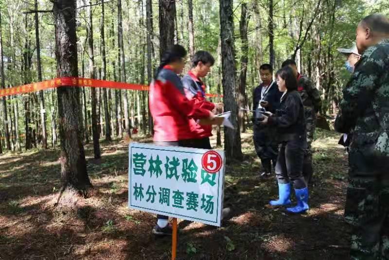 吉林省第一届职工职业技能大赛造林更新工和营林试验员两个工种决赛在蛟河举行