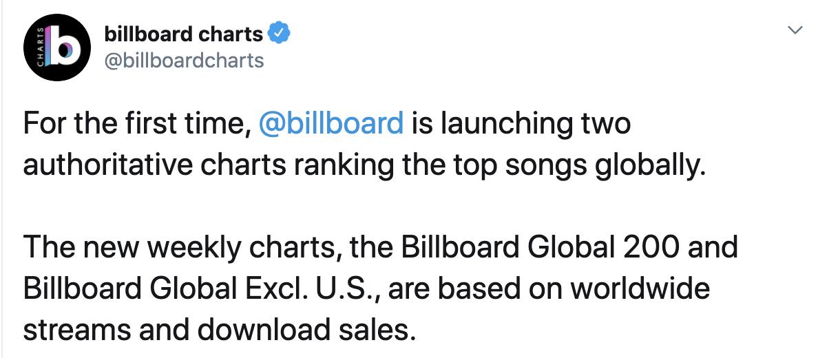 Billboard推出全新音乐排行榜:9首KPOP歌曲上榜
