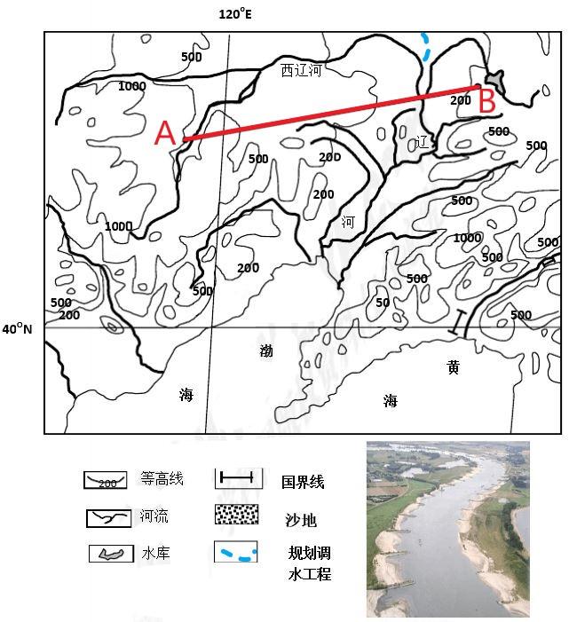 高中地理――每日讲1题(地形剖面图、河流水的补给、河流丁坝)