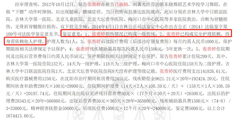 刘浩存父母疑被扒,所办舞蹈机构致人终身残疾,受害女孩不到10岁
