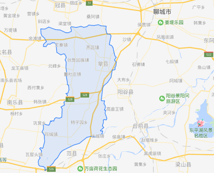 山东省一个县,人口超100万,地处三省交界处!