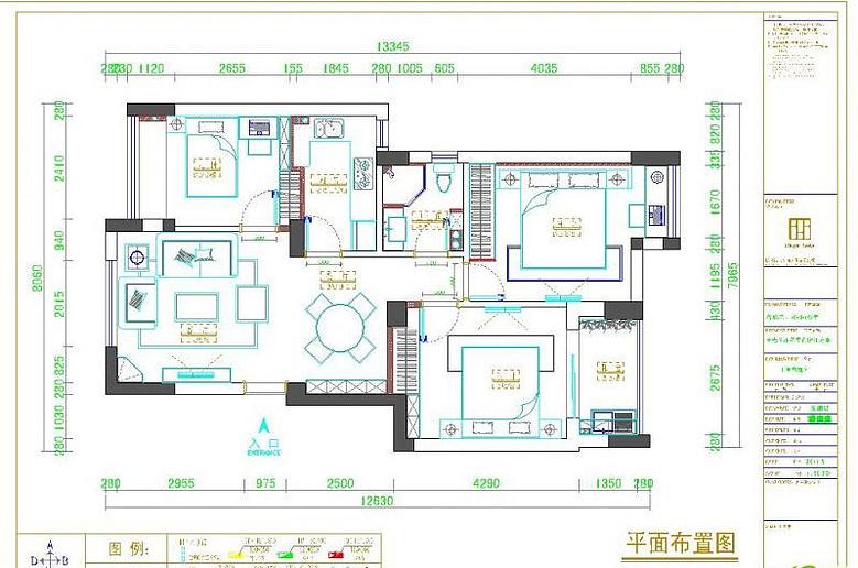 杭州90平方小三室装修效果图