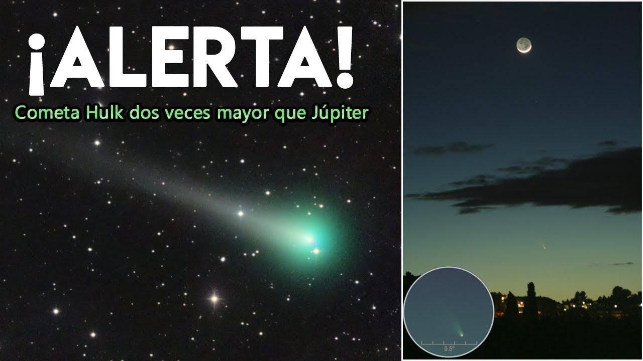绿巨人归来?不,在夜空划过一道绿光的是颗彗星