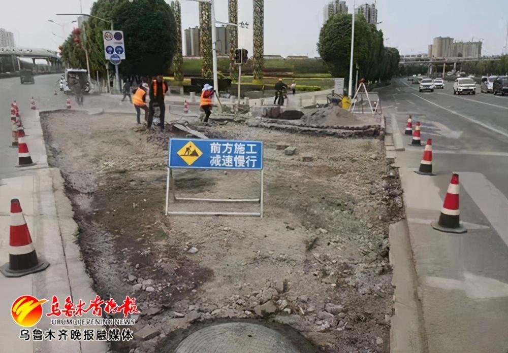 益民大厦路口:优化安全岛,设置掉头车道