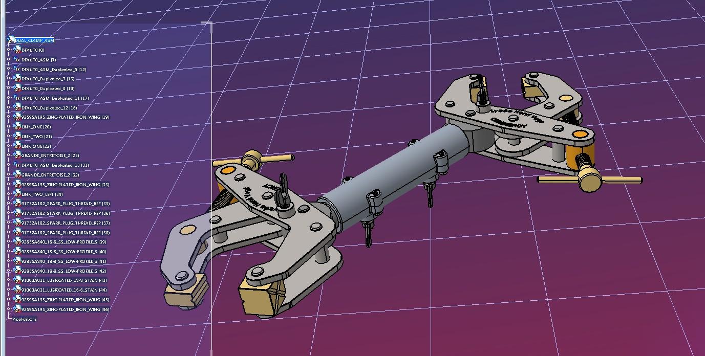 双头扭线夹持器3D图纸 STP IGS格式