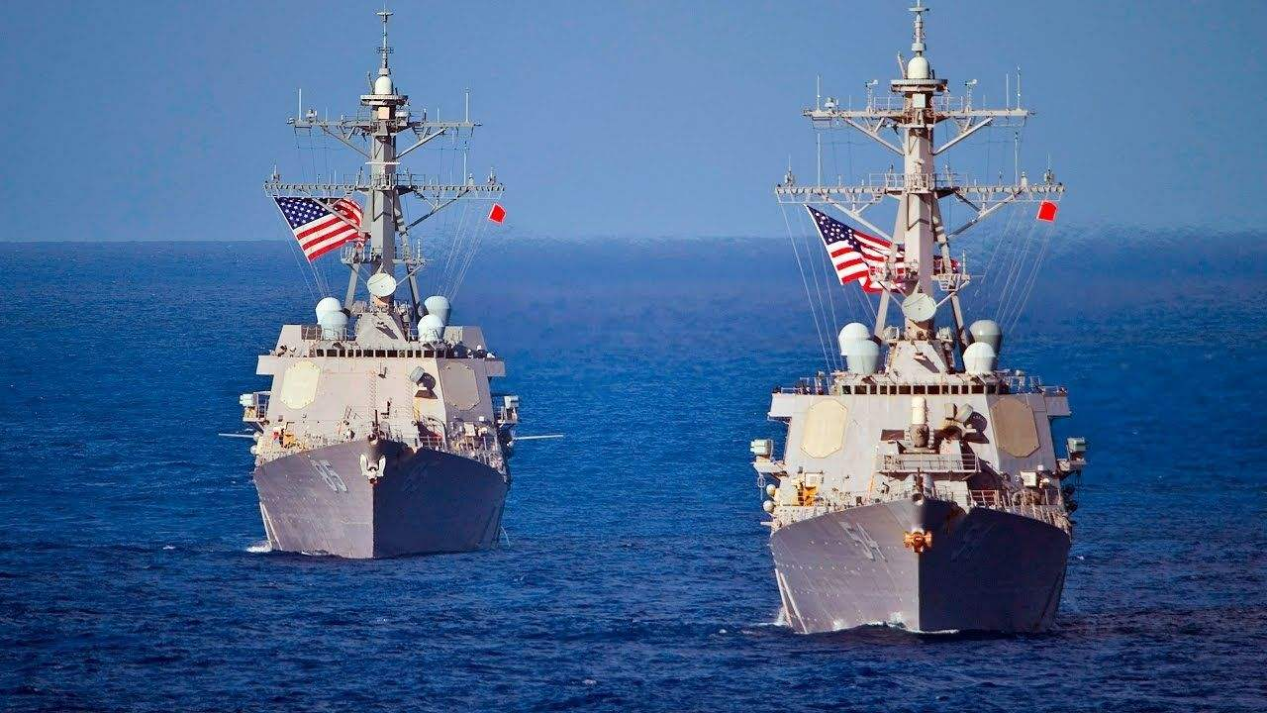 美国两艘军舰开进南海,铁了心要搞事?