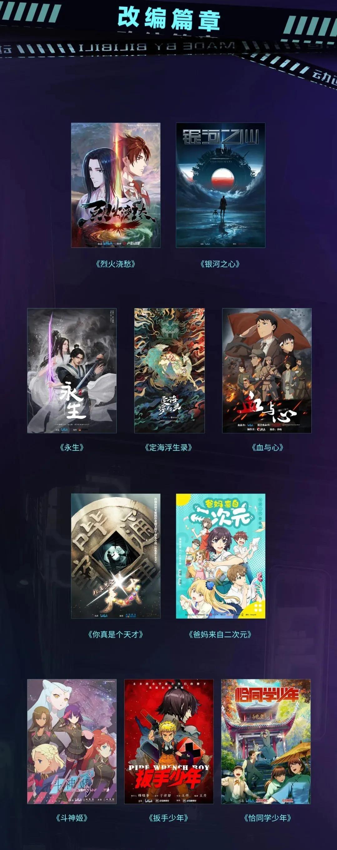 B站发布33个动画剧集,还有4部动画电影