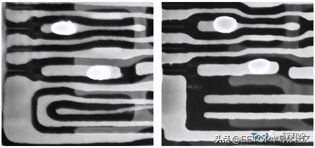 猜猜看哪一个是EUV曝光图?世界首款EUV DRAM显微拆解