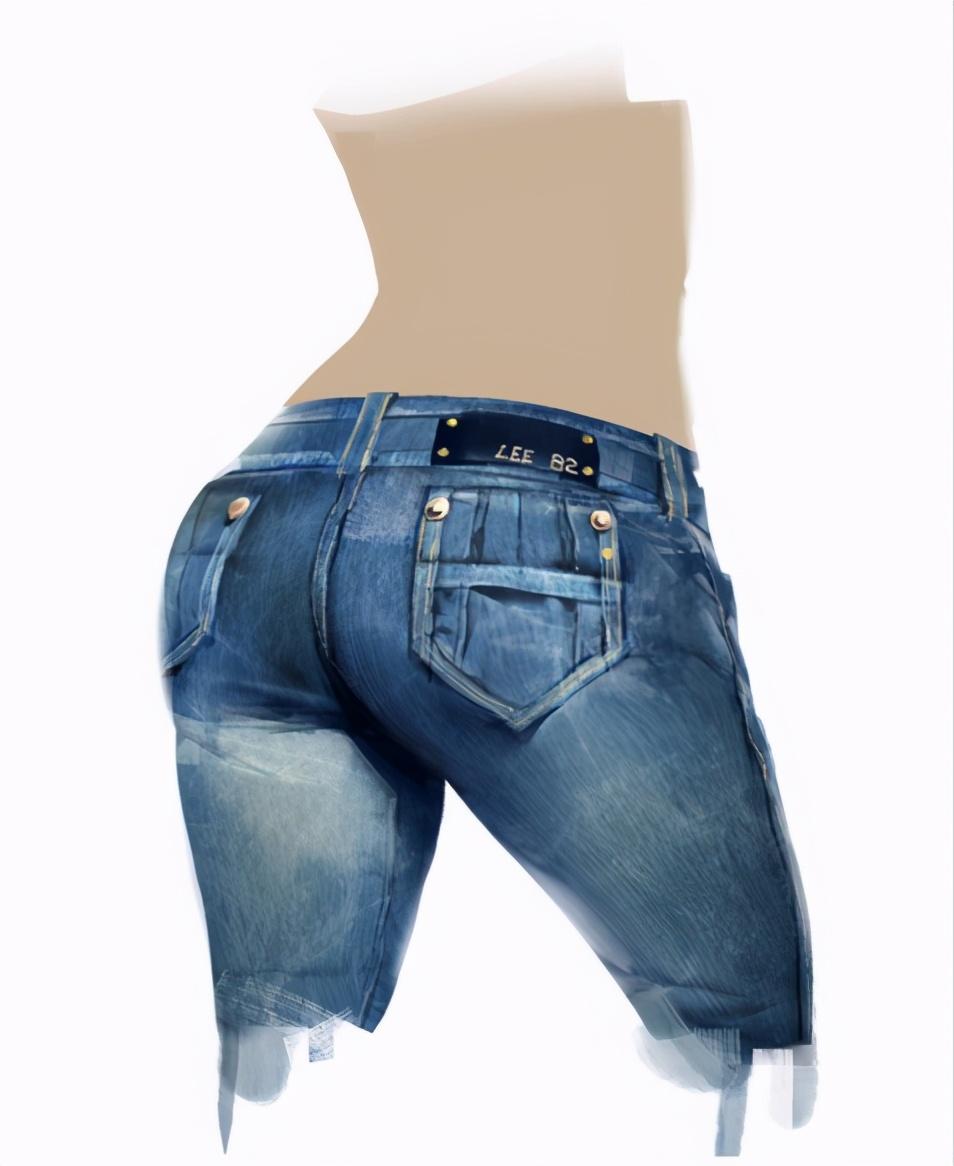 板绘牛仔裤材质怎么画?教你牛仔裤臀部材质的绘画技巧