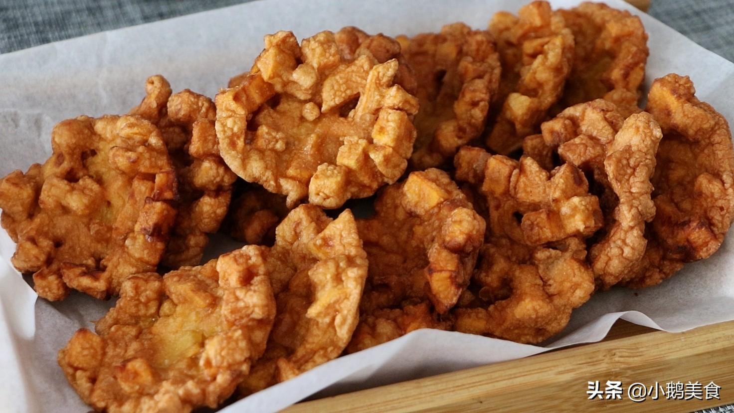 红薯别煮粥了,简单几步做小零食,香甜酥脆,孩子说比薯条还好吃 美食做法 第8张