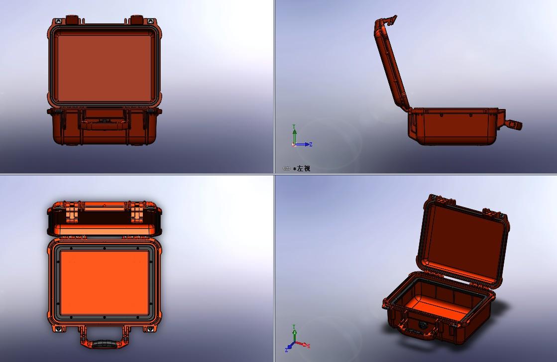 pelican 1400防水安全箱保险箱模型3D图纸 Solidworks设计 附STEP