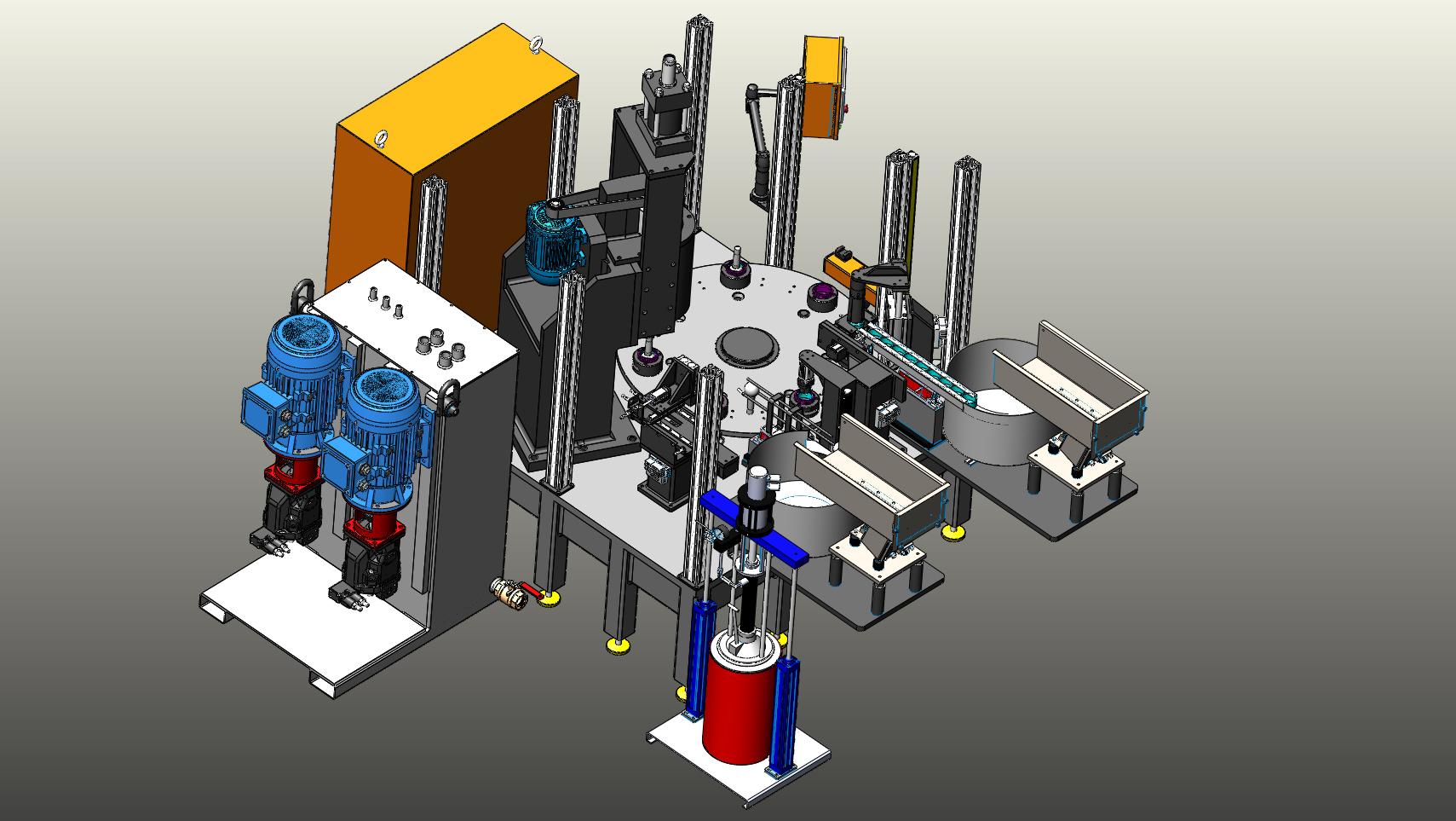旋压转盘组装机3D数模图纸 Solidworks设计 附STEP