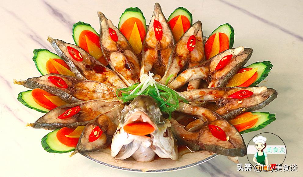 孔雀開屏蒸魚做法步驟圖 好看營養