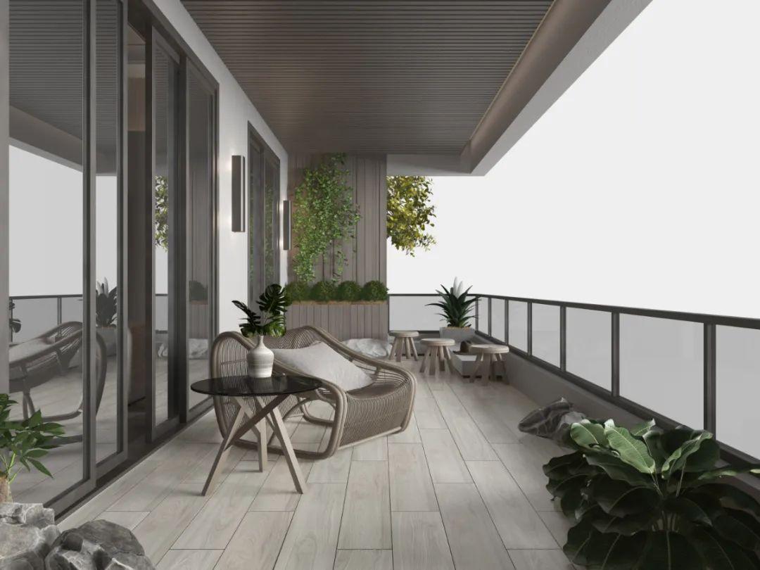 用阳台,收藏整个秋天的风景