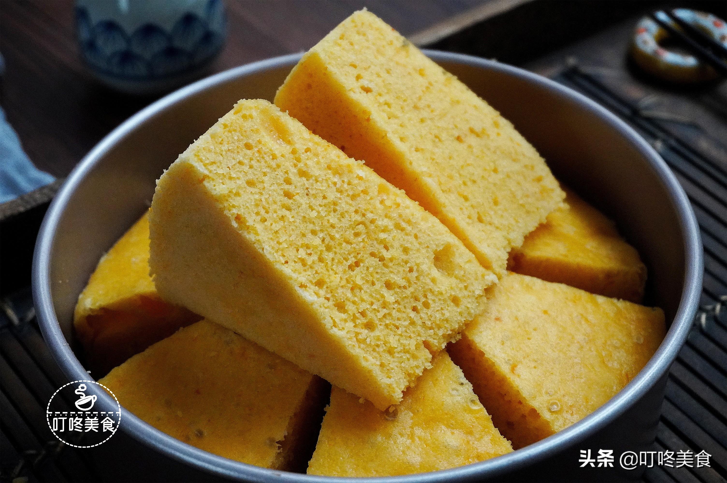 南瓜發糕家常做法,只需攪一攪,不沾牙不塌陷,比蛋糕還鬆軟