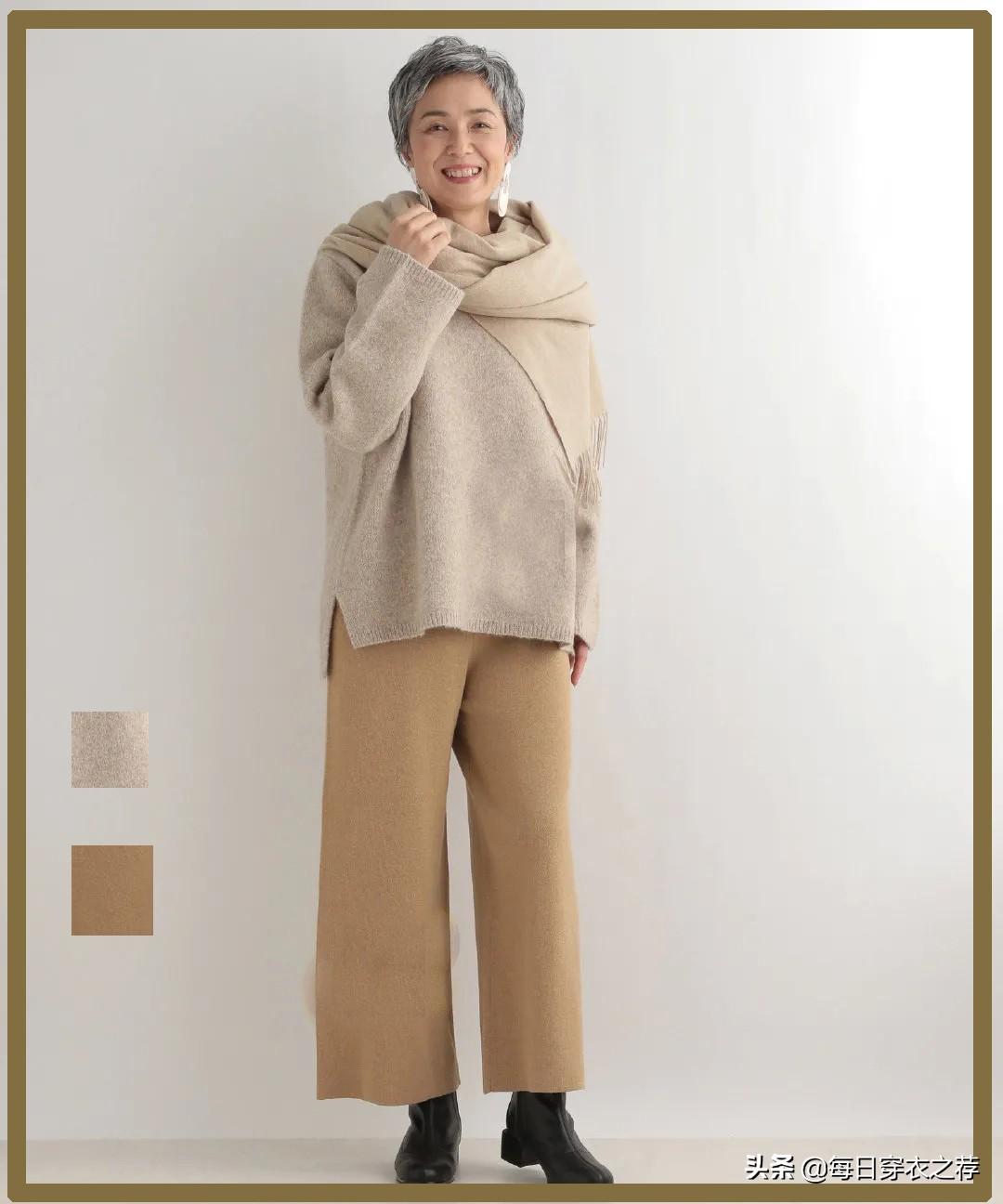 """60岁""""极简奶奶""""时髦上热搜,气质不输年轻人,自信女人才最美"""