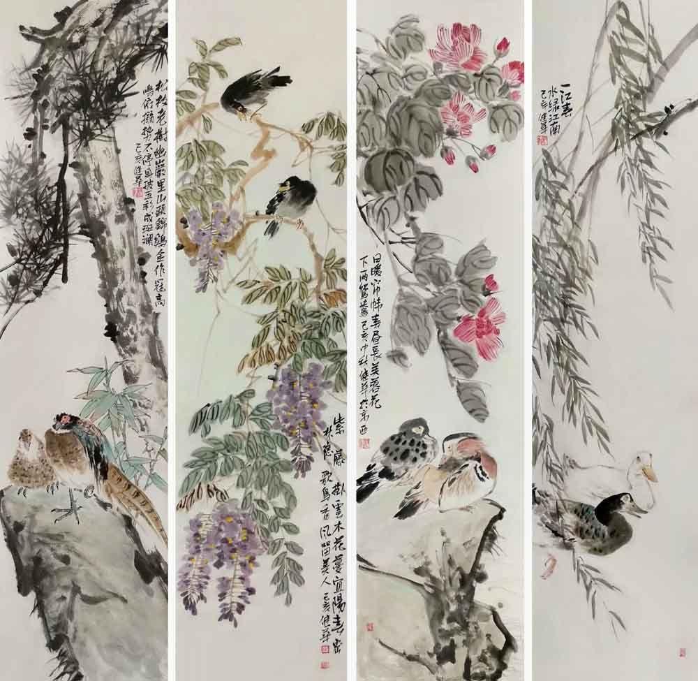 著名画家宋健华花鸟作品欣赏