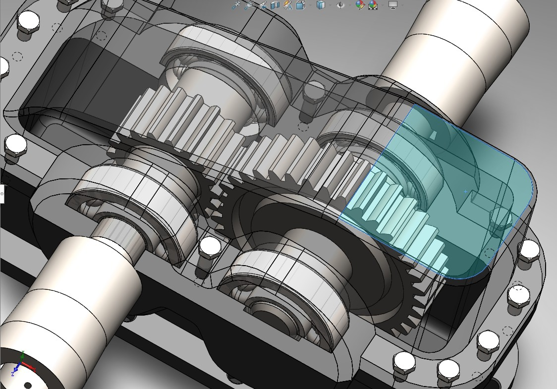 PG 16 RAKOR一级圆柱减速齿轮箱3D图纸 Solidworks设计