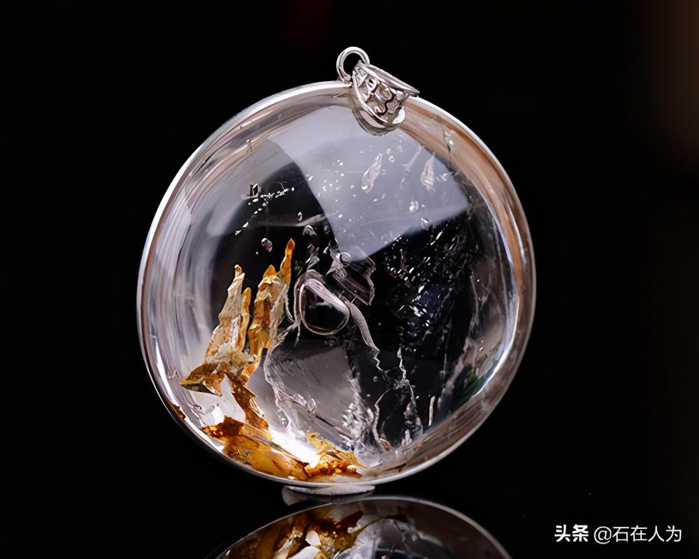 """石奇为贵-""""水胆""""水晶"""