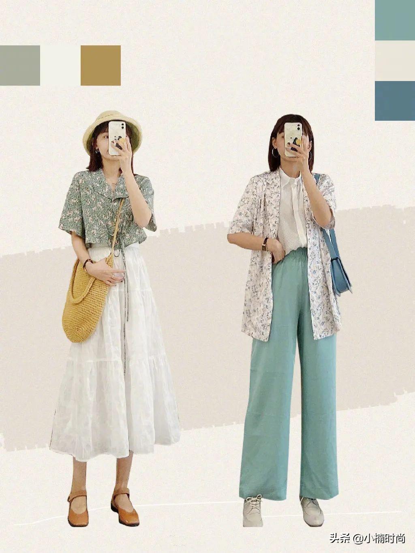 想要在夏季穿出气质又耐看的搭配?那清爽的配色是关键