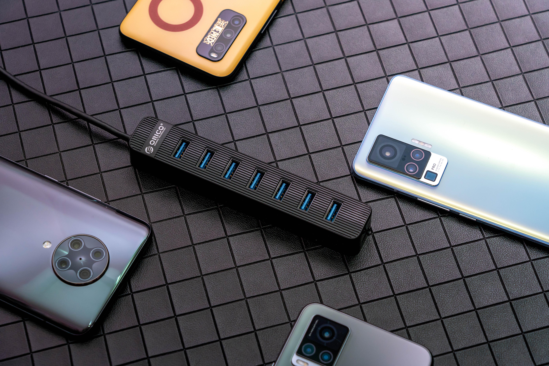 ORICO USB 3.0 七口集线器体验:再多的外设也不怕