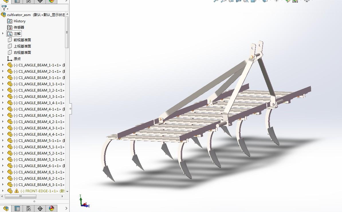 农业机械-行分蘖3D模型图纸 IGS格式