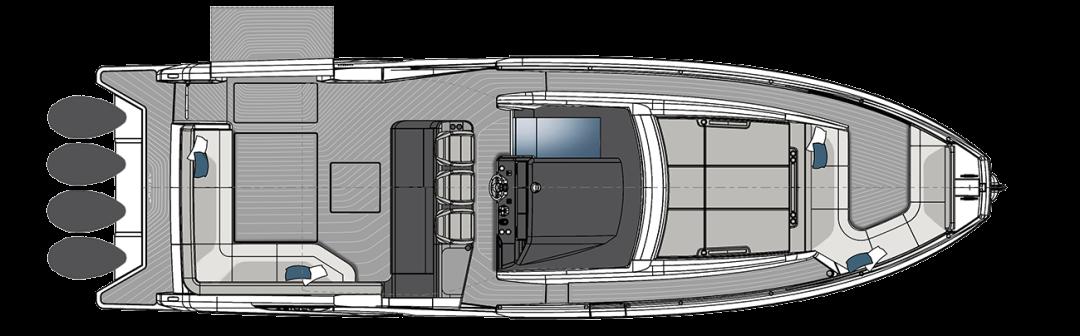 1800马力,航速可达53节,阿兹慕Verve 47豪华游艇