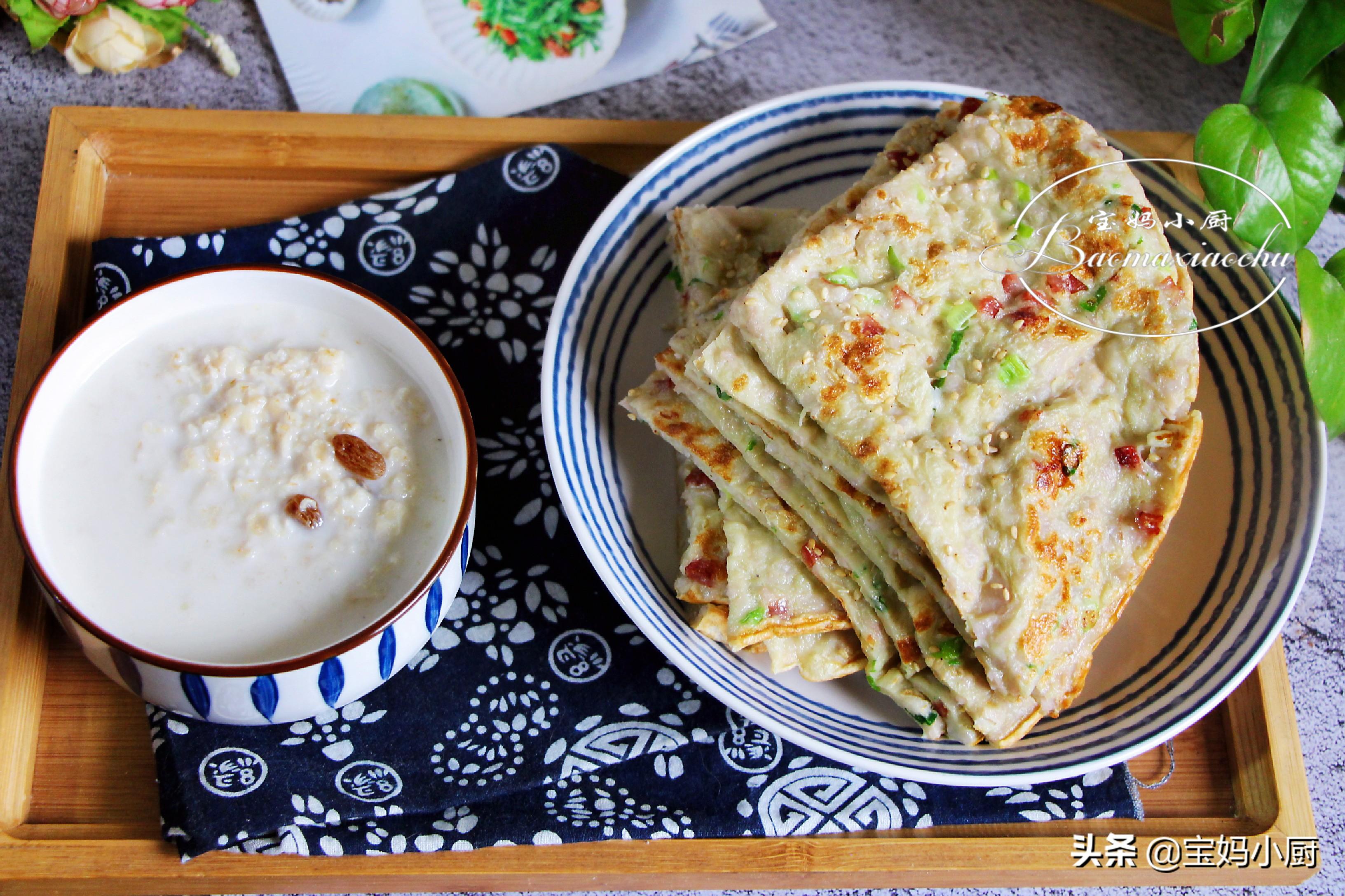 春季早餐,牛奶和雞蛋換個吃法,烙成餅老少都喜歡,營養又快手