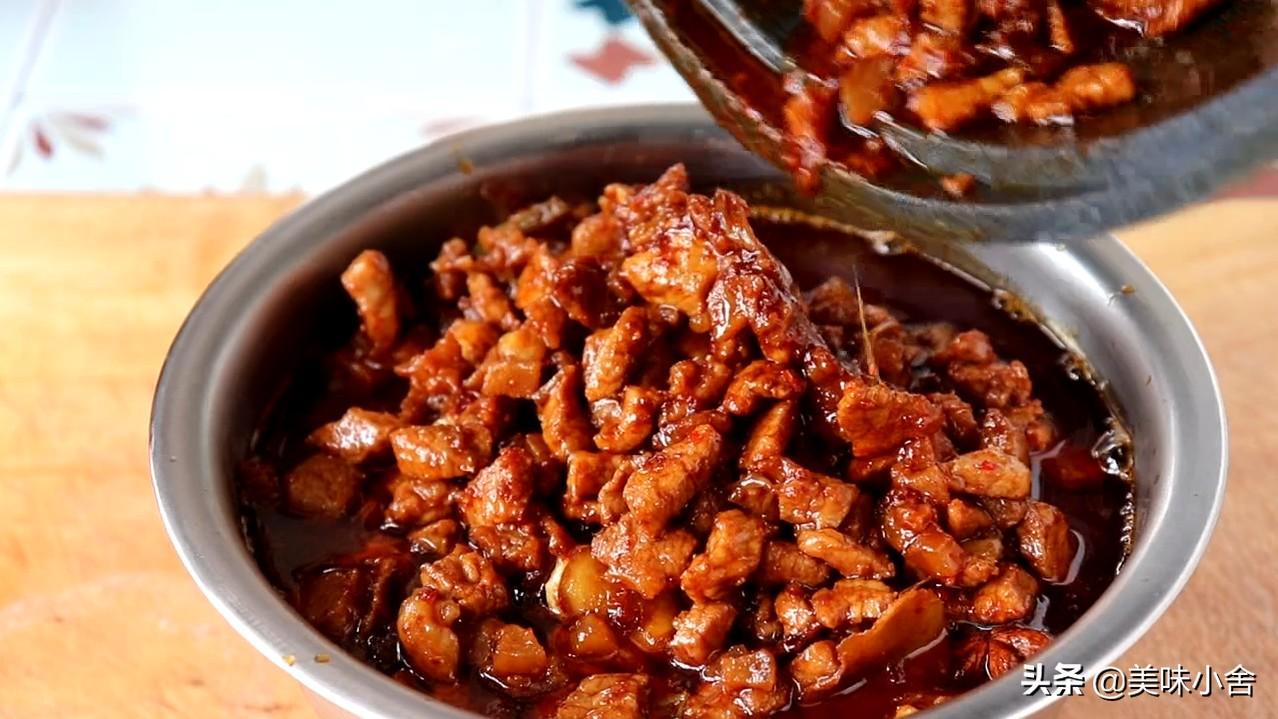 陕西的特色猪肉臊子,肉香酥烂,回味无穷,太香了 各地小吃 第8张