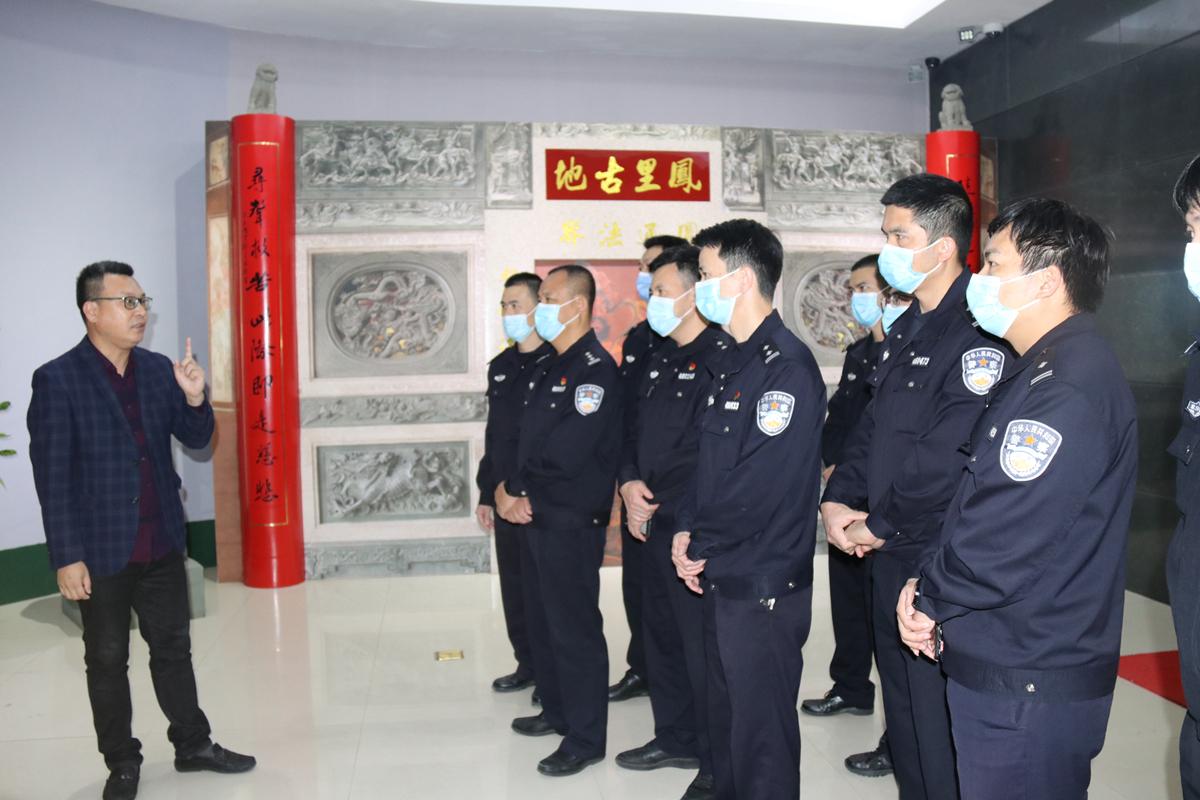 福建石狮凤里派出所组织党员民警到石狮市博物馆开展廉政警示教育