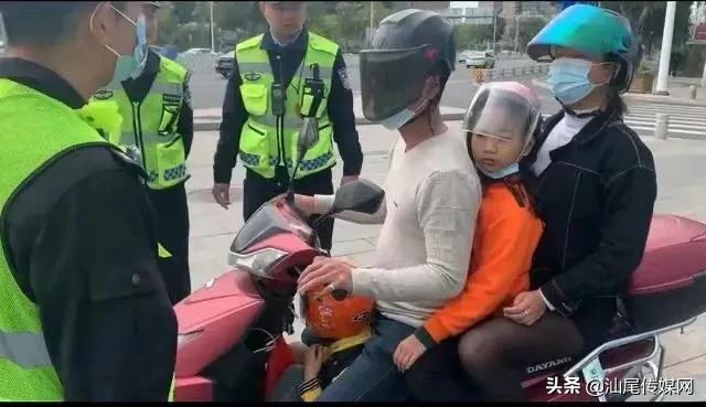 汕尾交警春节不打烊,一线执法执勤保安全