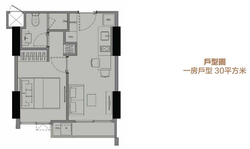 清盘特惠!曼谷天铁旁精装公寓现房丨Cebtric Ratchayothin