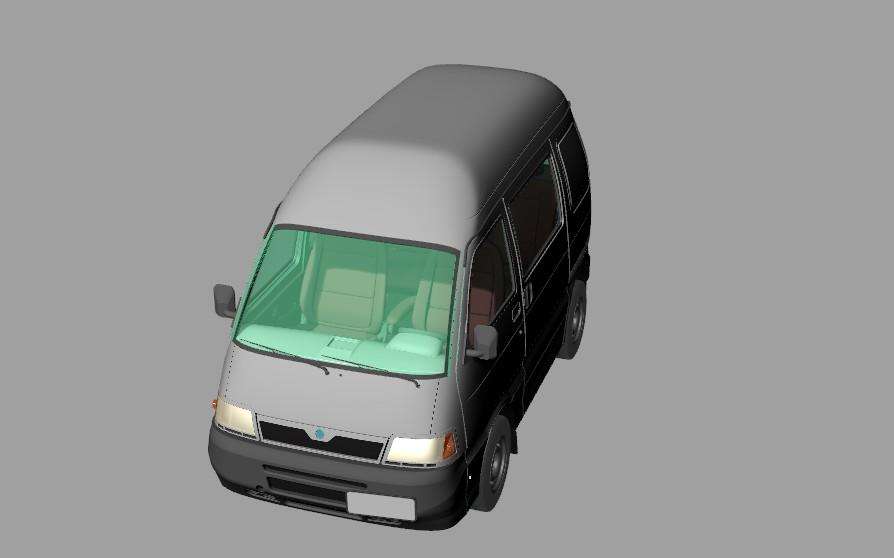 PIAGGIO PORTER面包车造型3D图纸 RHINO 3dm FXB格式