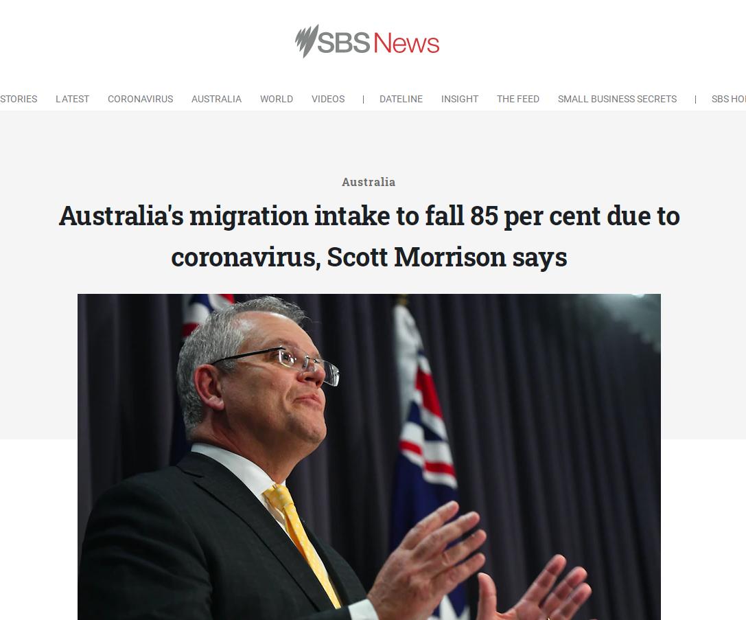 净移民数量逐年下降,来澳大利亚的移民都去
