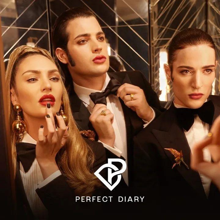 超模Candice 跟国货彩妆品牌完美日记联名合作
