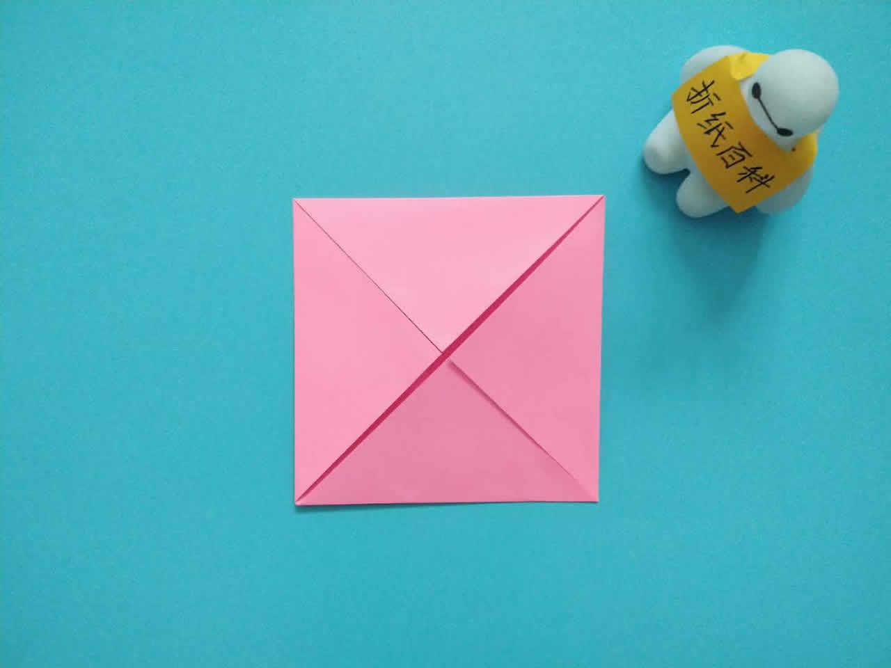 教你折纸方形带盖礼品收纳盒,简单又漂亮,手工折纸图解教程 家务 第2张