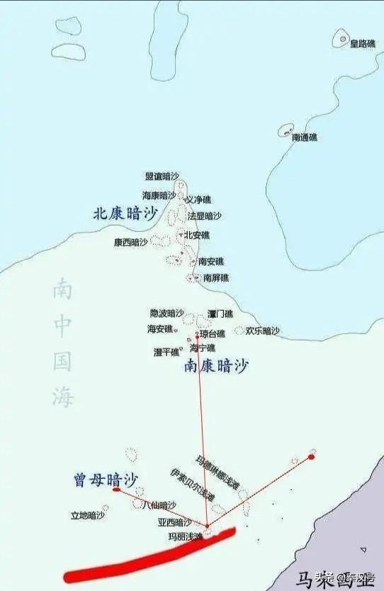 图说南海岛礁:中国极南之地,并非曾母暗沙,而是——玛丽浅滩