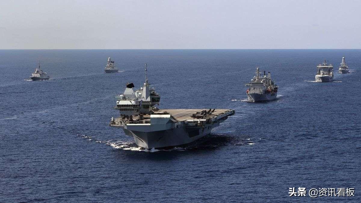 距离580海里!英航母舰队闯南海,进入山东舰航母战斗群打击范围