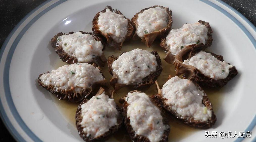羊肚菌怎么吃?教你羊肚菌酿肉的做法,搭配虾仁鲜上加鲜