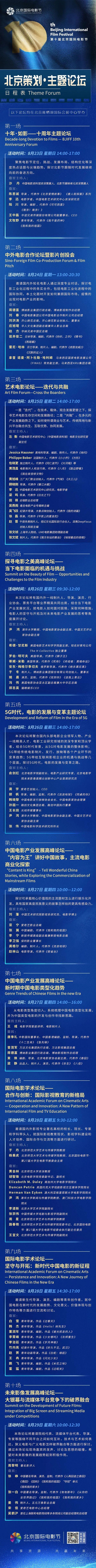 要闻速见丨北京策划·主题论坛 日程安排新鲜出炉