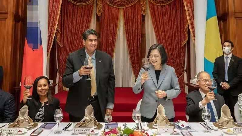 """蔡英文宴请2万人口小国总统,声称""""双方合作,全世界都在看"""""""