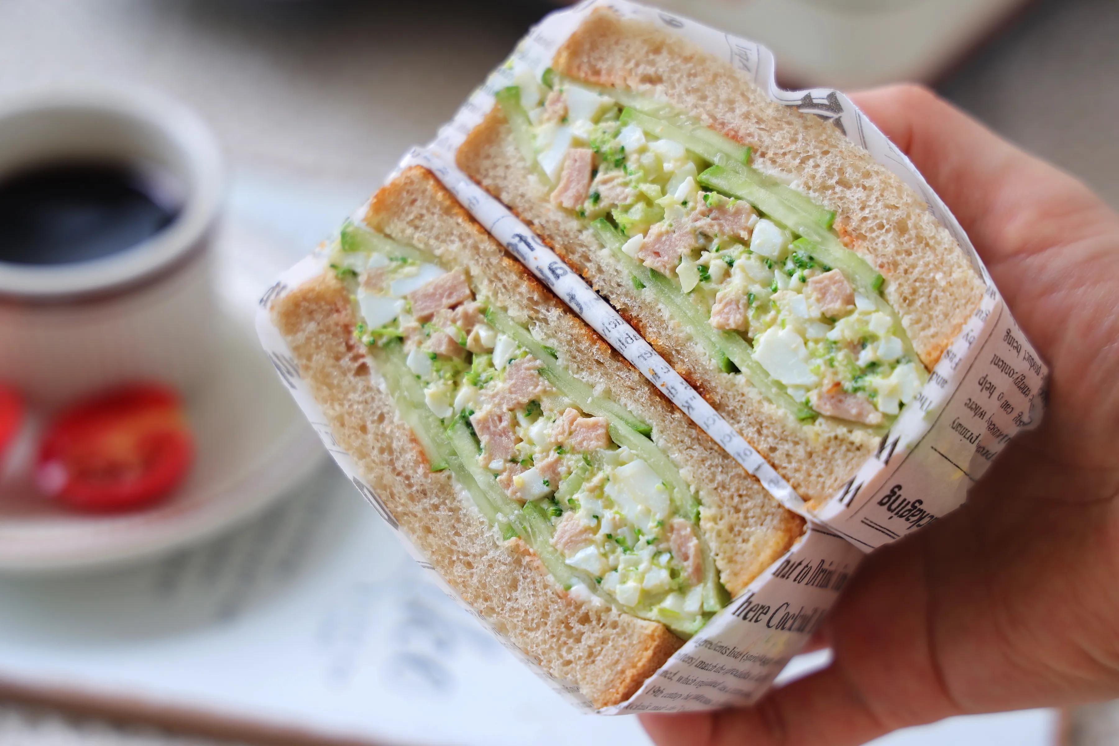 适合减脂健身的三明治,低油低脂,膳食纤维含量高,10分钟搞定