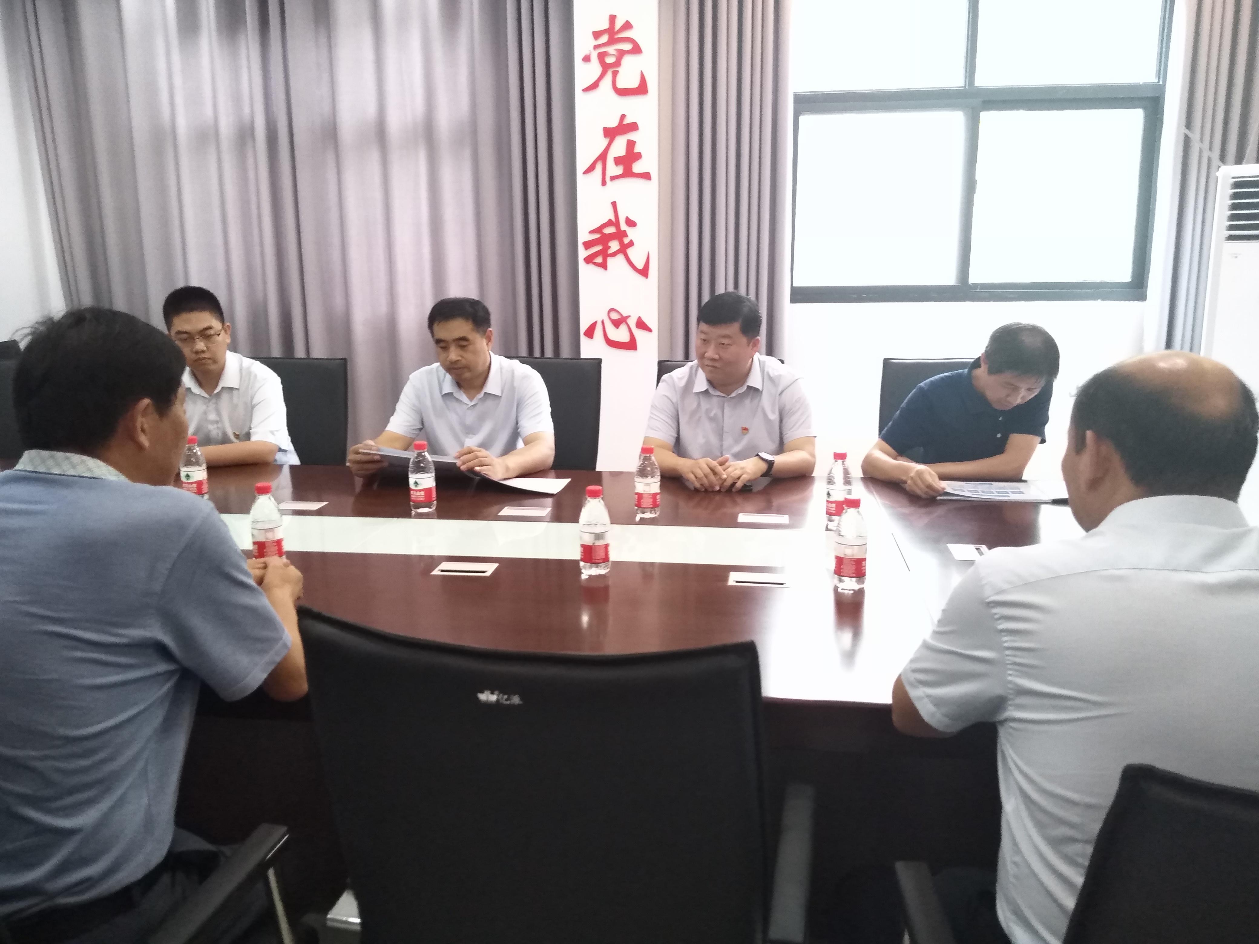 """荥阳市领导王峰深入刘河镇走访调研""""万人助万企""""活动"""